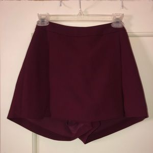 Maroon Skort (shorts under skirt)